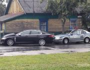 Момент ДТП с угнанным в Лунинце «Ягуаром» попал на видео