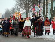 Колядное шествие в Пинске - яркие краски, щедрые пожелания