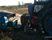 Трактор и мотоблок столкнулись в Теребежове. Есть пострадавшие