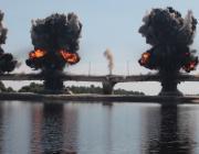 Мост через Припять взорвали
