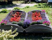 Цветочная книга украсила Комсомольскую площадь
