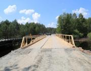 На реке Ствига военные возвели новый мост