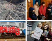 Современные колядники, граффити на вагонах, три детские кроватки и 80-летие Лунинецкого района