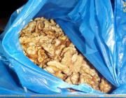 В Столине у россиянина изъяли 530 кг очищенных грецких орехов
