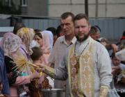 Освящение пасох при строящемся храме в Пинске. Фоторепортаж