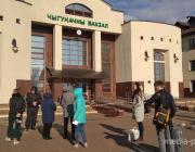 На Пинском железнодорожном вокзале ждут группу разминирования