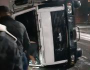 В Пинске перевернулся грузовик МАЗ
