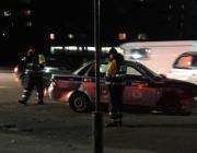 В Пинске столкнулись автомобиль ГАИ и гражданское авто. Видео с места происшествия