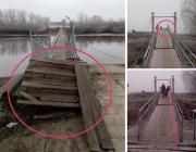 Понтонный мост через Горынь становится опасным