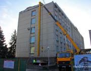 Здание, где размещаются пинские власти, снова ремонтируют
