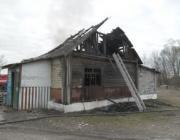 В Лунинецком районе сгорел сельский магазин