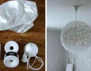 Как сделать стильный абажур из ниток своими руками. Стань дизайнером своего дома!