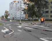 В центре Пинска транспортный коллапс
