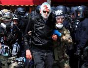Газ, кровь и 288 арестованных. В Париже жестко прошли первомайские демонстрации «желтых жилетов»