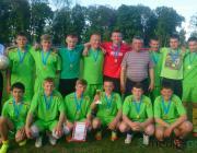 В спартакиаде по футболу среди школьников Столинщины вновь победила комада из Рубля