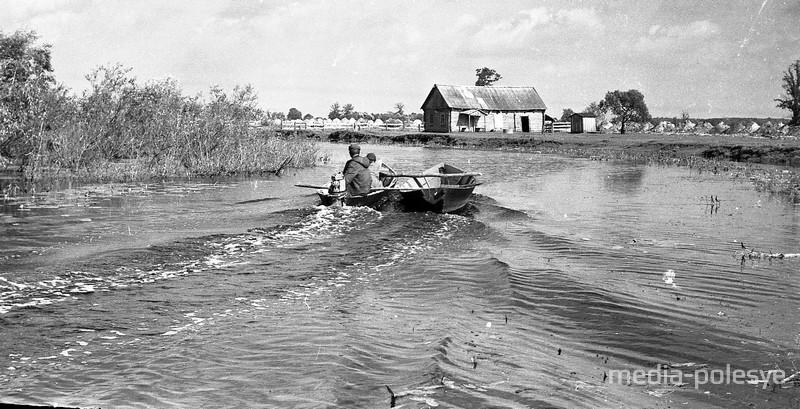 На лодках по Ветлице