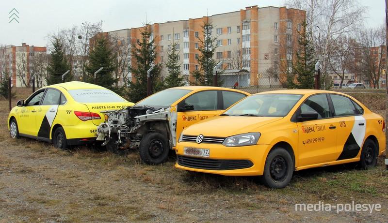 Смотрите, как выглядит кладбище Яндекс-такси в Пинске