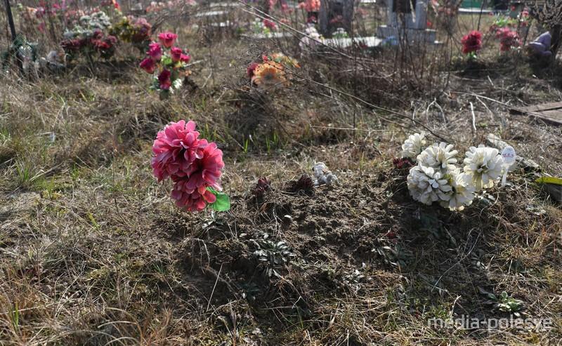 Все могилы с цветами