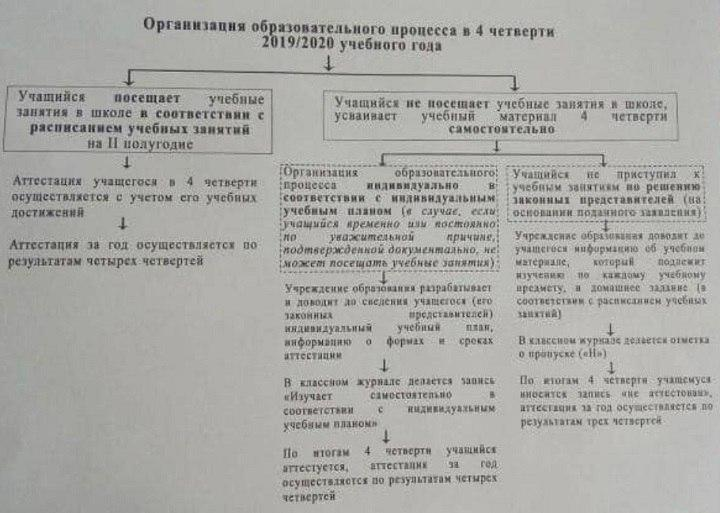 Такую схему озвучили учителям. Фото: страница Александра Луцевича в Facebook