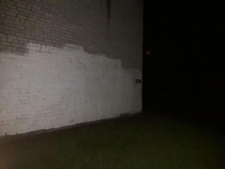 Ближе к ночи граффити уже не было. Фото читателя