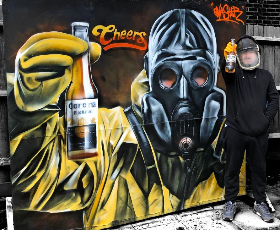 Граффити британского художника Gnasher