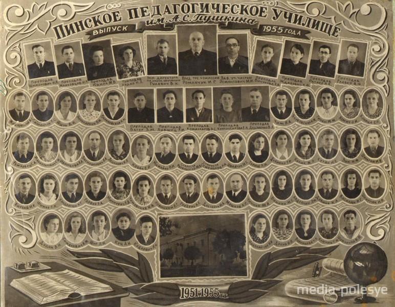 Выпускники педагогического училища 1955 года