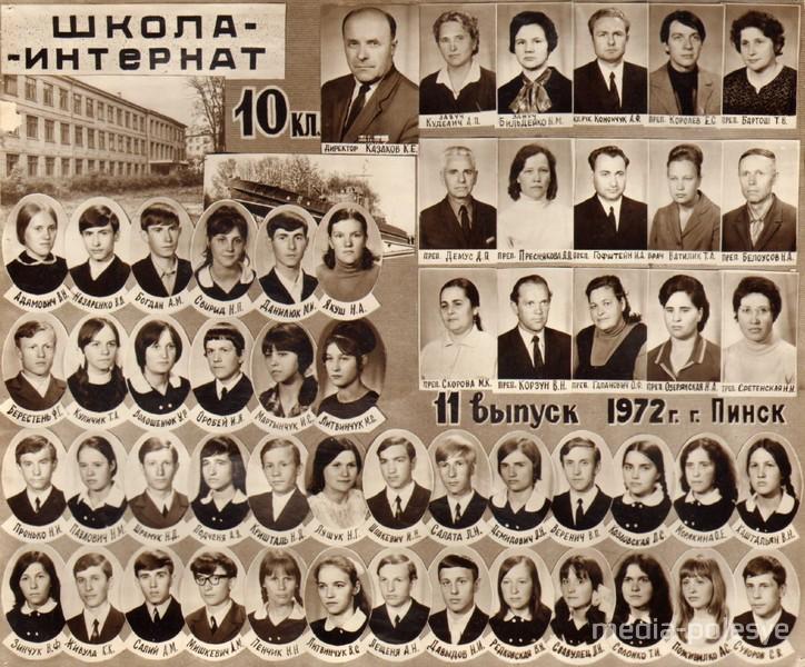 Выпускники школы-интерната 1972 года