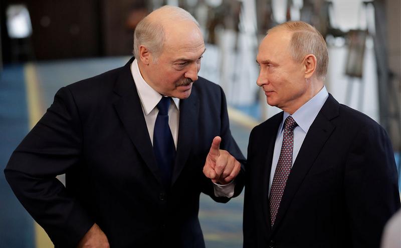 Александр Лукашенко и Владимир Путин (Фото: Михаил Метцель / ТАСС)