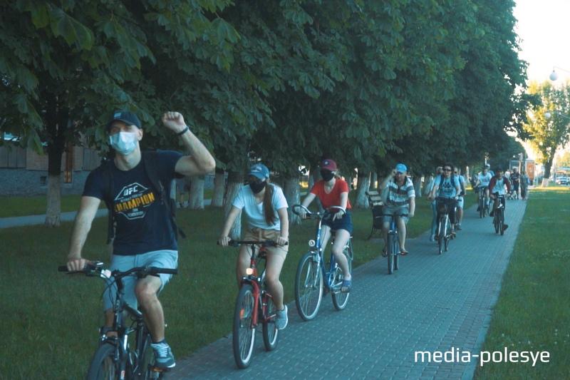 Велопробег солидарности в Пинске 26 июня 2020