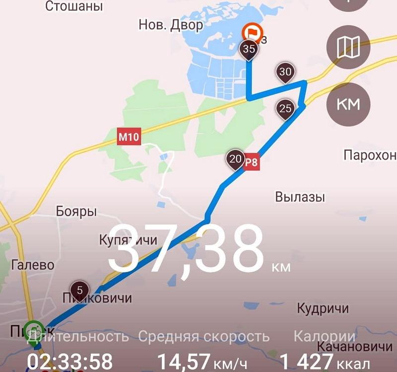 Продолжение маршрута