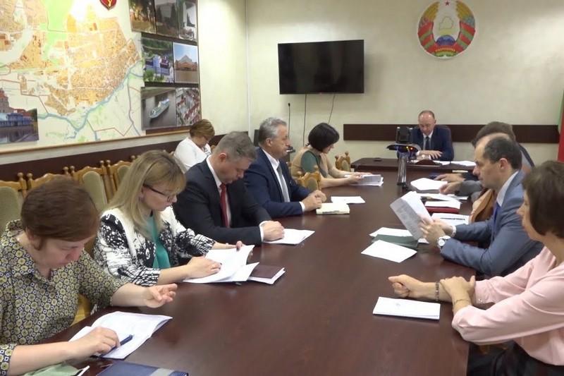 Заседание горисполкома во главе с председателем Иваном Ребковцом 23 июня 2020г. Скриншот видео