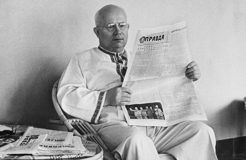 В Советском союзе моду на вышиванки ввёл Никита Хрущёв. Фото с сайта ukraina.ru