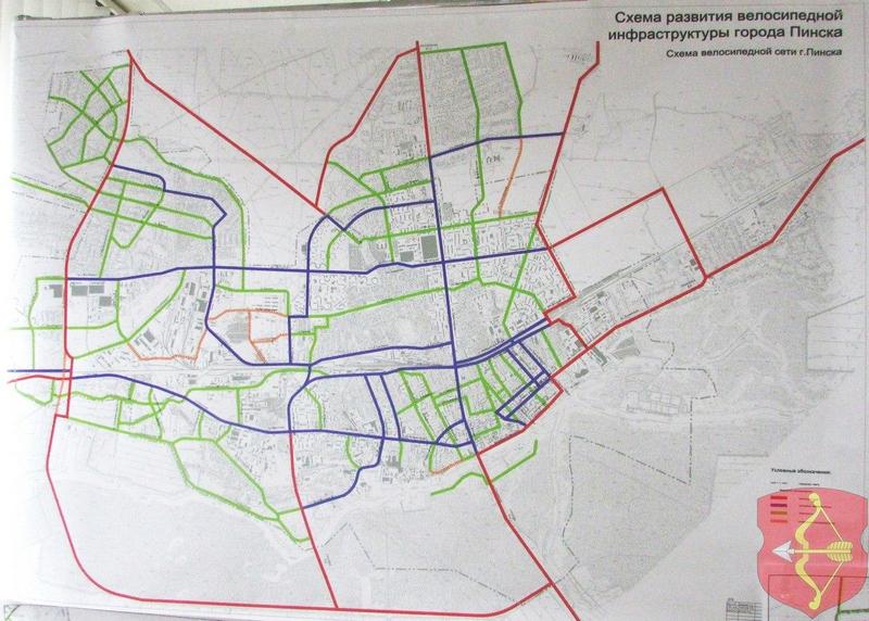 Схема развития велосипедной инфраструктуры города