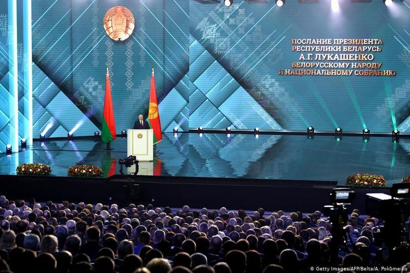 Президент Республики Беларусь Александр Лукашенко обращается к белорусскому народу и парламенту 4 августа