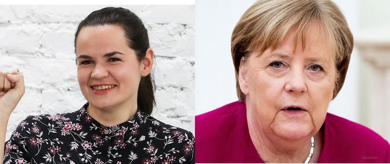 Светлана Тихановская и Ангела Меркель