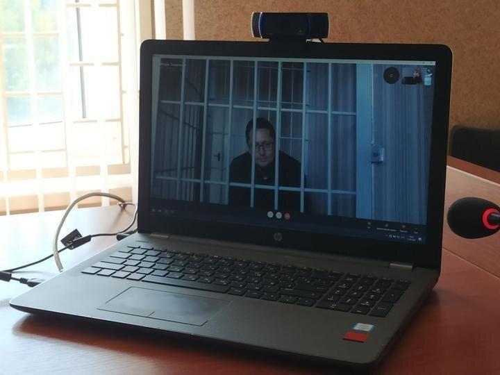 Дмитрий Семченко в суде. Фото Tut.by