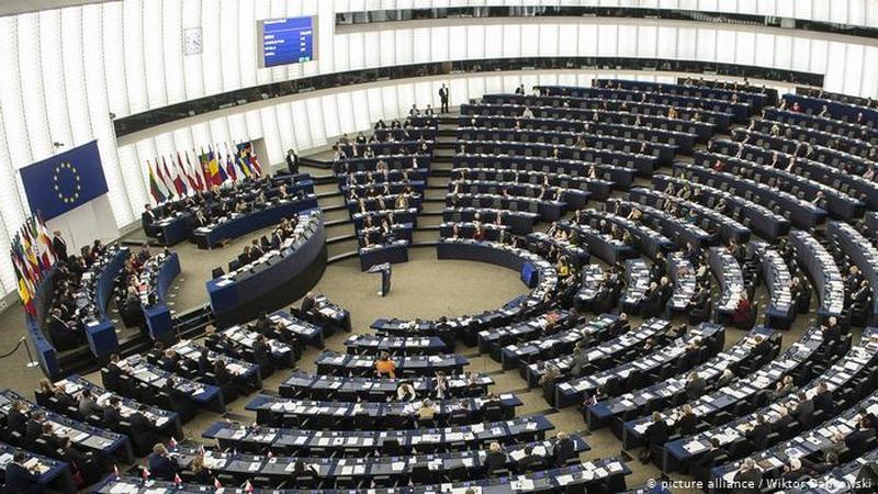 Снимок носит иллюстративный характер / Пленарный зал Европарламента в Страсбурге