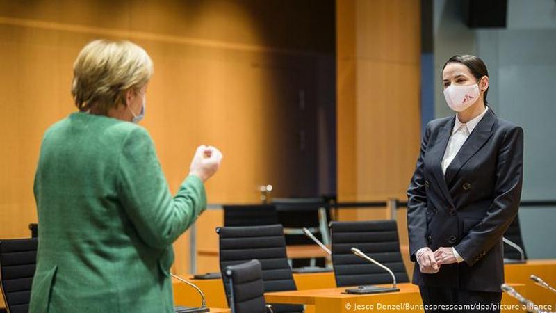 Светлана Тихановская на встрече с Ангелой Меркель / Фото: www.dw.com