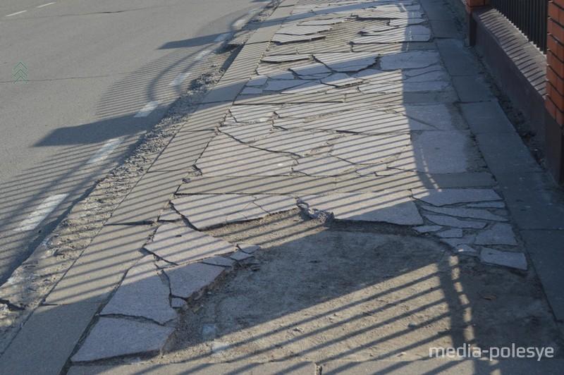 Тротуар по Ленинской. Спасибо Граниту