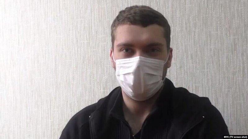 Павел Мартынов, кадр из видео УВД Могилевского облисполкома