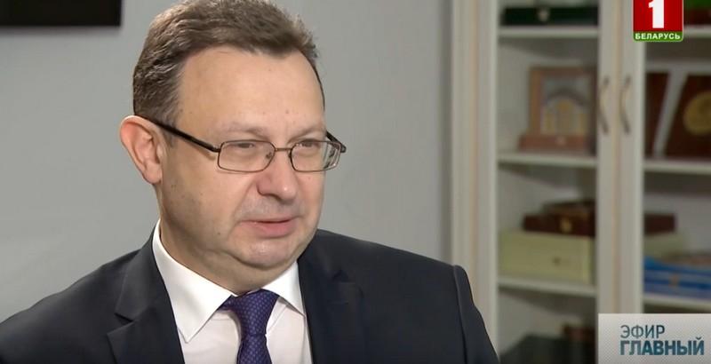 Исполняющий обязанности министра здравоохранения Дмитрий Пиневич / Фото: скриншот из видео