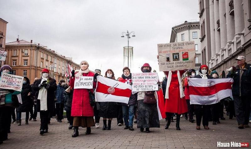 Колонна участников Марша мудрости в начале пути / Фото: Наша Нiва