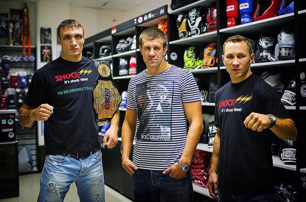 Андрей Герасимчук, Дмитрий Шакута и Денис Зуев. Фото @shock__gym