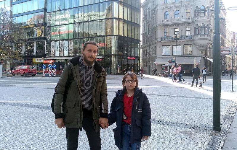 С сыном Матвеем