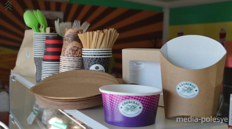 Экологически чистая посуда в кафе-баре Фаст Фуд