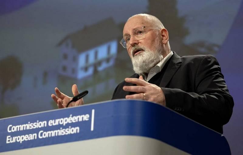 Первый заместитель главы Еврокомиссии Франс Тиммерманс / Фото: © EPA-EFE/Olivier Matthys/POOL