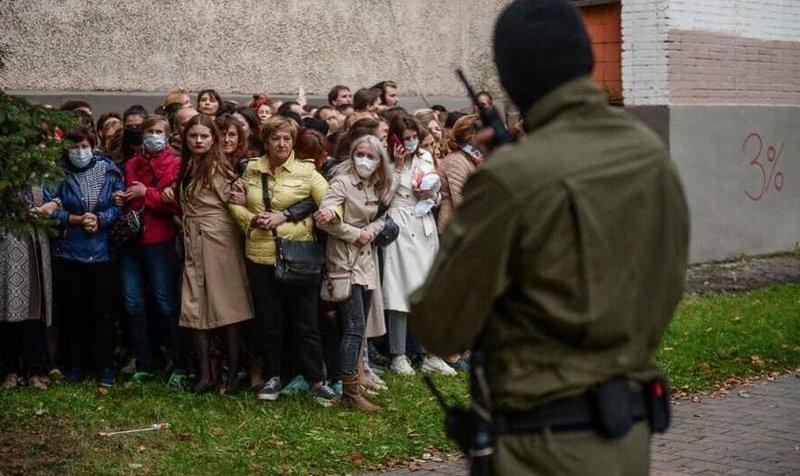 Минск, 8 сентября 2020 года. Фото: Евгений Ерчак, EPA
