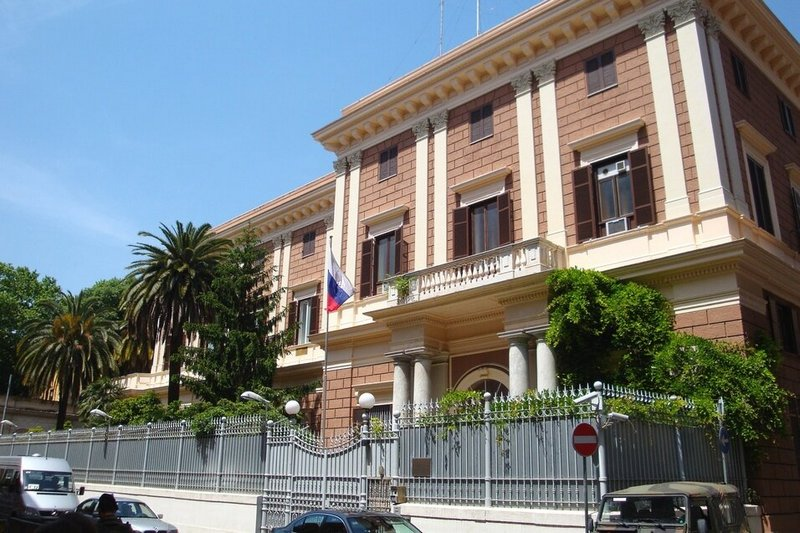 Посольство России в Италии. Фота Wikimedia Commons