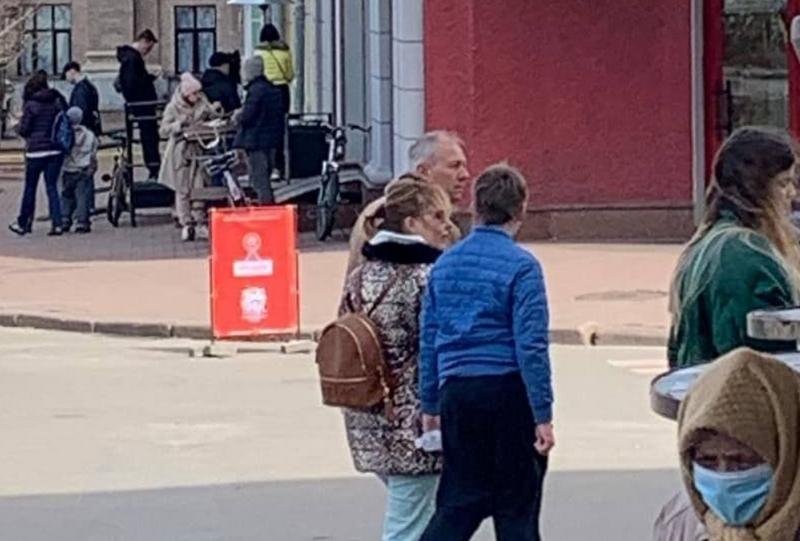 Человек, похожий на Сергея Румаса, в Киеве. Фото: соцсети