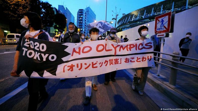 Акция в Токио против проведения Олимпиады, 9 мая 2021 г
